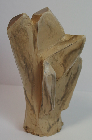 Crystal Skulptur aus Ton Standard-Bild - 98961542