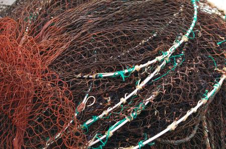 Fischernetz in Nahaufnahme Standard-Bild - 99315963