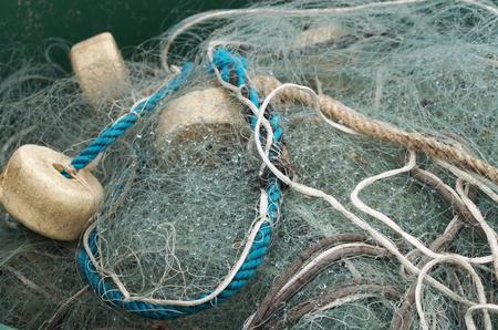 Fishing net in closeup