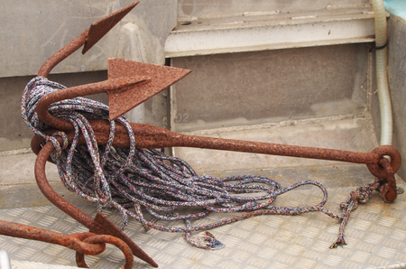 old anchor with dew
