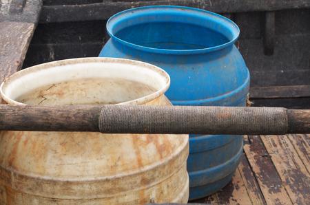 Fish tank in fishing boat Standard-Bild - 99524907
