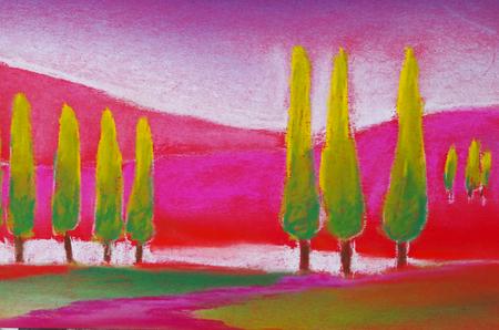 abstract image of Tuscany Standard-Bild - 104701645
