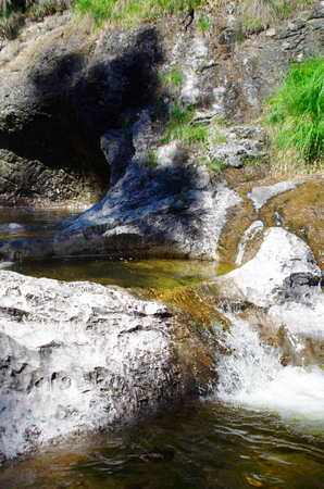 Gumpen of a small waterfall direction Hochalm in Upper Bavaria