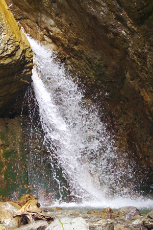 Waterfall at the Achensee in Tyrol Standard-Bild - 104442769