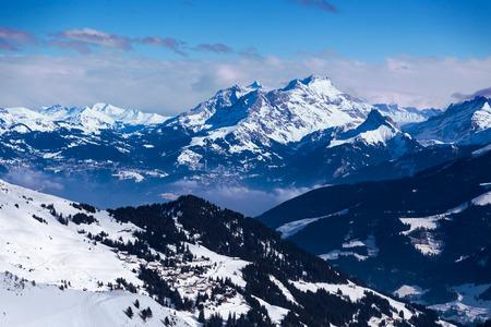 soleil: Views of the resort Diablerets from Portes du Soleil, Switzerland