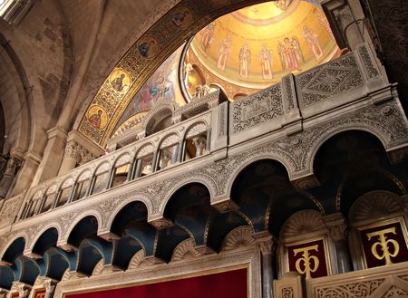 Fragment of interior of Holy Sepulchre Church, Jerusalem