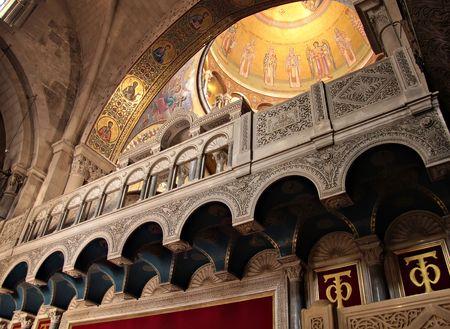 orthodox church: Fragment of interior of Holy Sepulchre Church, Jerusalem