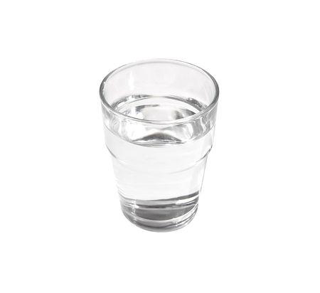 Vidrio lleno de agua clara de todavía Foto de archivo