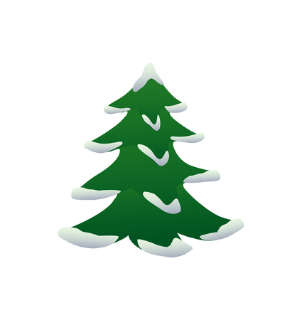 Vector illustration of Christmas tree with snow Stock Vector - 5806838