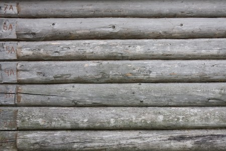 Background of old weathered wooden boards (beams) Stock Photo - 7618904