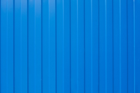 corrugated iron: Blue corrugated iron fence texture