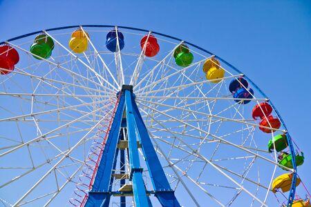 chairoplane: Ride on Ferris wheel in Amusement Park Editorial