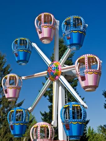 Childrens Ferris wheel in Amusement Park