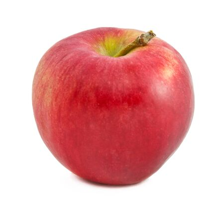 Ripe Red Apple isolated over white background Stock Photo