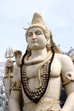 hindu god shiva: Hindu god Lord Shiva statue at Bangalore, India