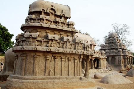 mahabharata: Pancha ratha temples in Mammallapuram, Chennai, India