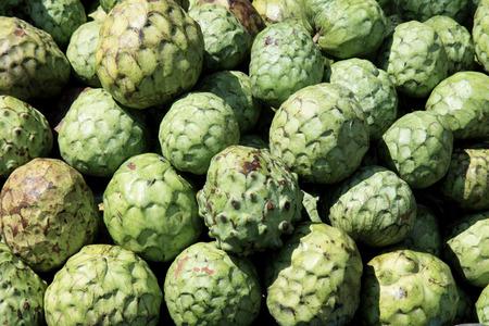 chirimoya: Bunch of Cherimoya fruits  Stock Photo
