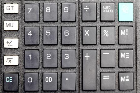 Close up of Calculator keypad  photo