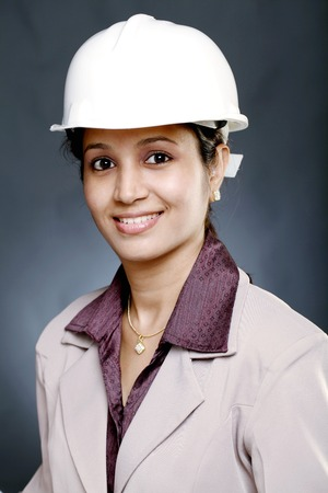 Portrait of young Indian woman architect photo