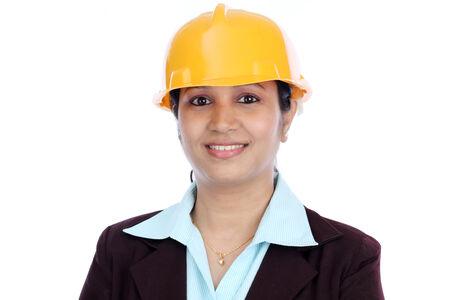 female architect: Confident young female architect