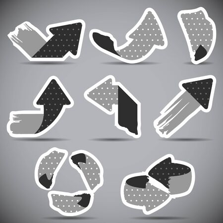 Set of grunge arrows Illustration