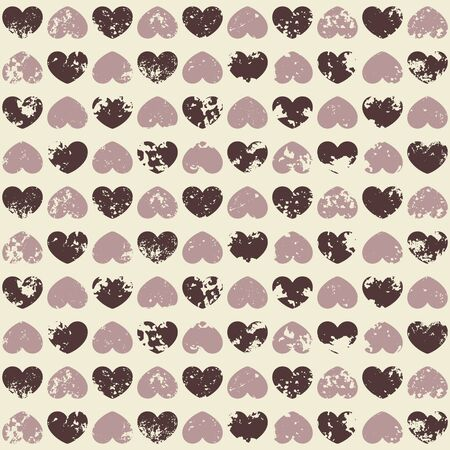 Grunge seamless pattern with hearts Stock Vector - 18685403