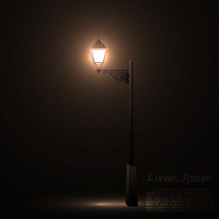 lampposts: Vintage calle linterna Vectores