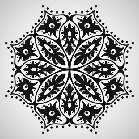 Sch�ne Ornament auf wei�em Hintergrund, Vektor-Illustration
