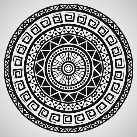 Ethnische Ornament auf wei�em Hintergrund, Vektor-Illustration