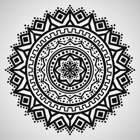 Ethnic ornament on white background, vector illustration Illustration