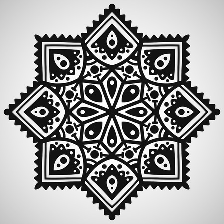 Ethnic ornament on white background, vector illustration Illustration