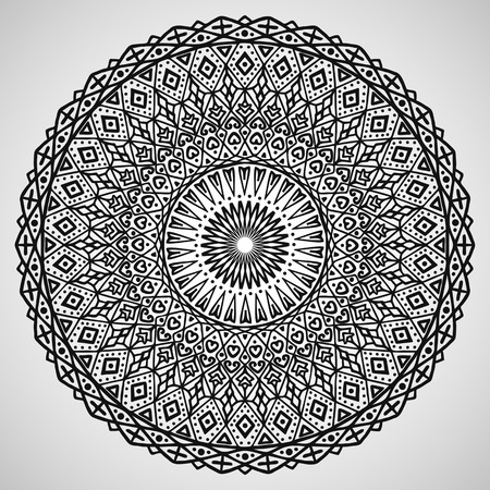 Beautiful ornament on white background, vector illustration