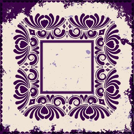 Vintage frame auf grunge Hintergrund, Vektor-Illustration