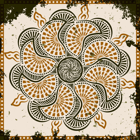 Lace Ornament auf grunge Hintergrund, Vektor-Illustration