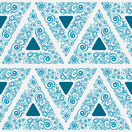 Blue seamless ornament for wallpaper, vector illustration