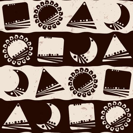Nahtlose ethnische Muster, Vektor-Illustration