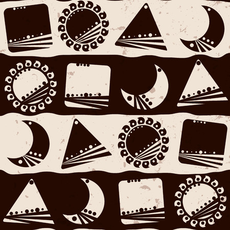 Seamless ethnic pattern, vector illustration
