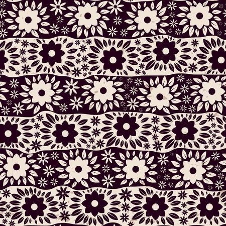 Vintage floral nahtlose Muster, Vektor-Illustration