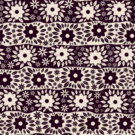 Vintage floral seamless pattern, vector illustration