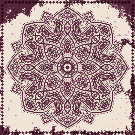 Lace ornament on grunge background, vector illustration