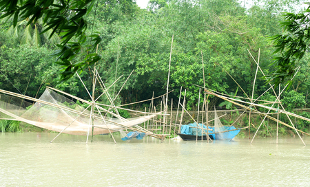 River side of Bangladeshs village