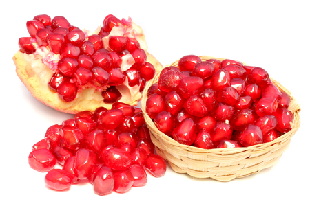 Fresh pomegranate Fruit isolated on white background