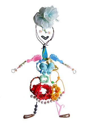 mottle: l'immagine della bambina � stabilito dal suo accessori