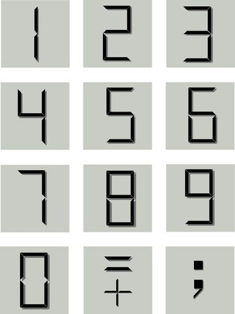 three dots: numerical symbols in the electronic style Stock Photo