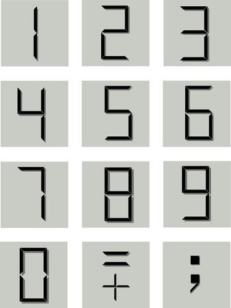 decimal: numerical symbols in the electronic style Illustration