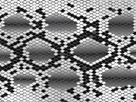 Vector snake skin lozenge pattern in black grey and white