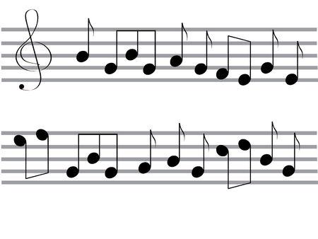 viertelnote: Vector Black Music stellt fest, auf den wei�en Hintergrund