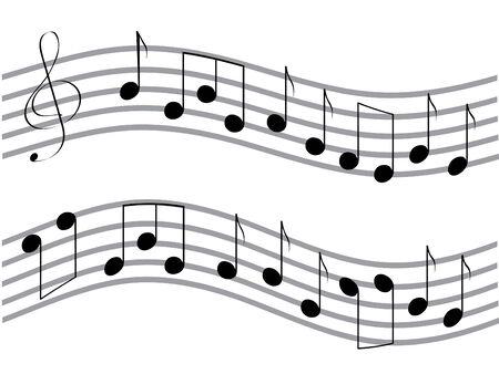 viertelnote: Vector winkte black music stellt fest, auf den wei�en Hintergrund