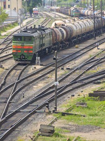 railtrack: goods train on the railway