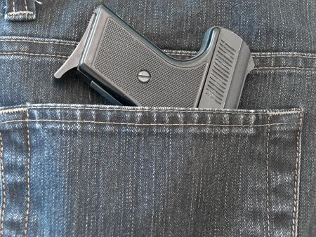 investigators: photo of the jeans pocket with pistol